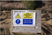 SW7442 : Warning Sign, Wheal Maid Valley by Graham Loveland