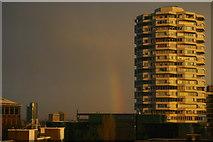 TQ3265 : Rainbow and office block, Croydon by Christopher Hilton