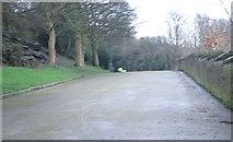 SE0726 : Entrance to Shroggs Park - Lee Mount Road by Betty Longbottom