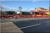 SO8454 : Emergency vehicles on Worcester Bridge by Philip Halling
