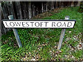 TM4489 : Lowestoft Road sign by Adrian Cable