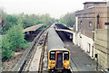 TQ1763 : Chessington South station, with new EMU, 1985 by Ben Brooksbank