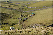 SK1482 : A group of walkers on the hills near Castleton by Peter Barr