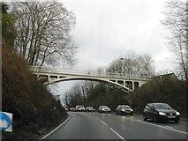 TQ2652 : Footbridge over the A217, Reigate Hill by Alex McGregor