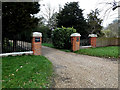 TM4489 : Entrance to Worlingham Hall, Laundry & Stable Cottages by Adrian Cable