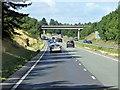 TL9163 : Bridge over Westbound A14 by David Dixon