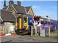 NZ8909 : Whitby bound train at Ruswarp station by Pauline E
