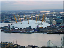 """TQ3980 : O2 Arena seen from """"The Attic"""" by Shazz"""