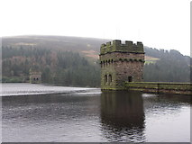 SK1789 : Derwent Reservoir Dam tower by Gareth James