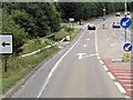 TL8745 : A134 Crossroads near Long melford by David Dixon