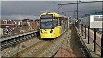 SJ8297 : Metrolink tram departs Cornbrook en route from Eccles to Ashton by Chris Morgan