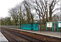 ST1380 : Platform 1 at Radyr railway station by Jaggery