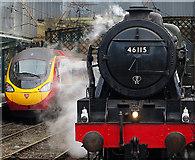 NY4055 : Locomotives old and new at Carlisle by William Starkey