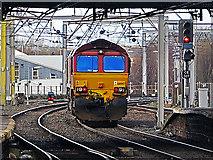 NY4055 : Class 66 locomotive approaching Carlisle by William Starkey