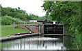 SO8660 : Lock No 5 north of Fernhill Heath, Worcestershire by Roger  Kidd