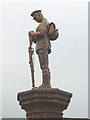 SD7152 : The Soldier atop Slaidburn war memorial by Karl and Ali