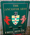 SO3321 : The Lancaster Arms name sign, Pandy by Jaggery