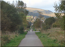 SS9389 : Cycle path in the Ogmore Valley (2) by eswales