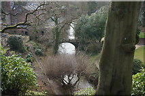 SJ8383 : River Bollin at Quarry Bank by Peter Barr