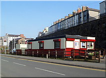 SH4862 : Welsh Highland Railway booking office in Caernarfon by Jaggery