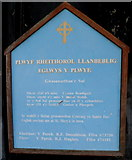 SH4862 : Welsh nameboard, Eglwys Llanbeblig, Caernarfon by Jaggery