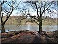 SE2712 : Upper Lake, Yorkshire Sculpture Park by Christine Johnstone