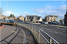 NS3421 : Roundabout at Castlehill and Holmston Road Junctions, Ayr by Billy McCrorie