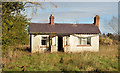 J3066 : Derelict cottage, Ballyskeagh by Albert Bridge