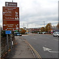 ST5972 : Attractions listed on a sign near the NW end of Bath Road, Bristol by Jaggery