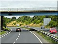TM0559 : Stowupland (B1115) Bridge over the Westbound A14 by David Dixon