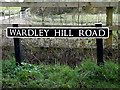 TM3693 : Wardley Hill Road sign by Adrian Cable