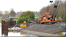 J3371 : Revetment works, River Lagan, Belfast - March 2014(1) by Albert Bridge