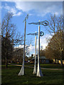 TQ3874 : Manor Park: windvanes by Stephen Craven