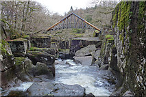 NN6408 : Bridge of Brackland above Keltie Water by Doug Lee
