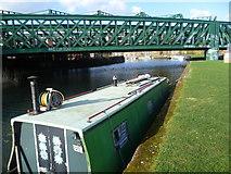 TQ3882 : Narrow boat on the River Lea by Marathon