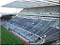 NZ2464 : St James' Park, Newcastle - The Milburn Stand by Richard Humphrey