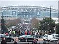 TQ1986 : Crowd near Wembley Stadium by Richard Humphrey