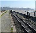 SH5738 : Ffestiniog Railway ESE of Harbour Station, Porthmadog by Jaggery