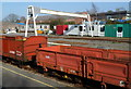 SH4758 : Gantry crane at Dinas by Jaggery