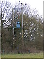 TL9542 : Power pole with metal box by Hamish Griffin