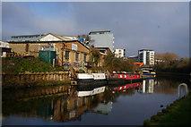 TQ3783 : The River Lea near the Olympic Stadium by Ian S