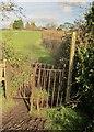 ST5682 : Gate on footpath, Compton Greenfield by Derek Harper