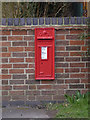 SK6821 : Grimston postbox ref LE14 3 by Alan Murray-Rust