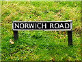 TG2300 : Norwich Road sign by Adrian Cable
