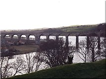 NT9953 : The Royal Border Bridge crossing the River Tweed by James Denham