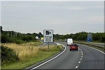 TL4662 : Westbound A14, Cambridge Bypass by David Dixon