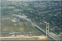 TA0225 : Humber Bridge, Country Park and Hessle Foreshore: aerial 2014 by Chris