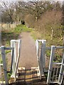 ST5982 : Squeeze stile, Community Forest Path by Derek Harper