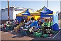 SU5013 : Market stall at Grange Nursery by Richard Dorrell