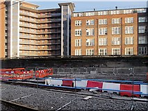 SJ8499 : Metrolink Construction Work on the Approach to Victoria Station by David Dixon